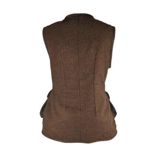 Bella gilet brown/brown back
