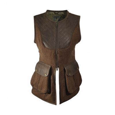 Bella gilet brown/brown front