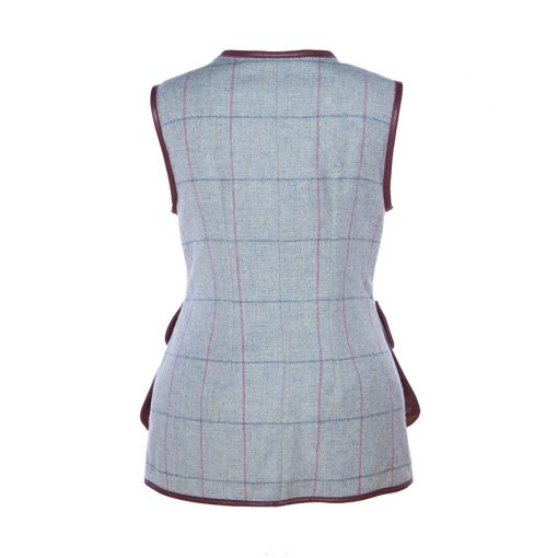 Bella gilet blue/purple back view