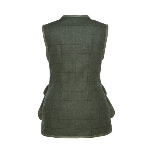 Bella gilet green/green back view