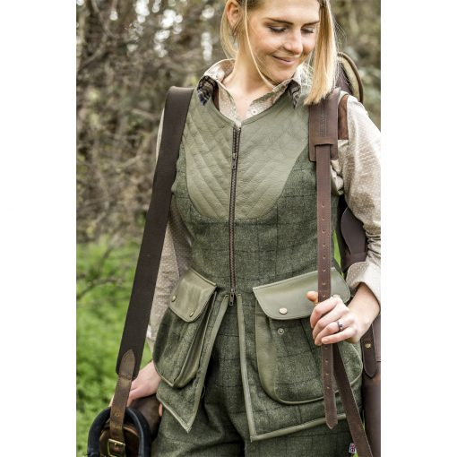 Bridie in Bella gilet green/green