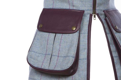 Bella Gilet blue/purple Pocket Detail