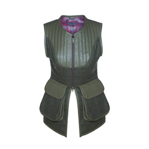 Bella gilet green/green front view