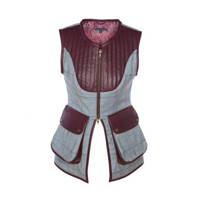 Bella gilet blue/purple front view