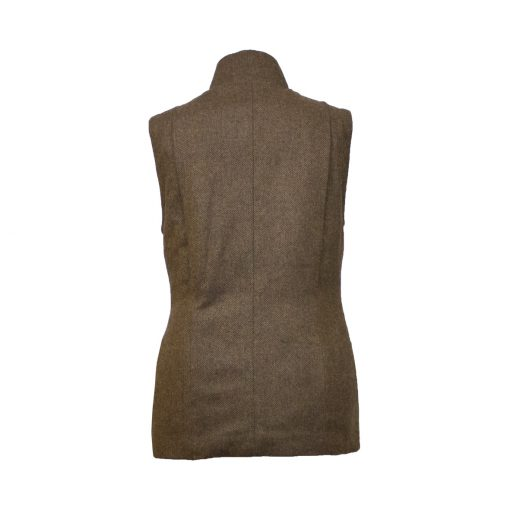 Olivia Jacket brown/brown back view sleeves off