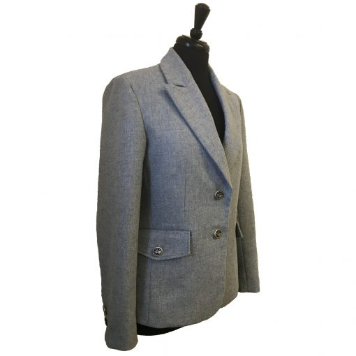 Camille Blazer - light blue Colour option 3 quarter front view