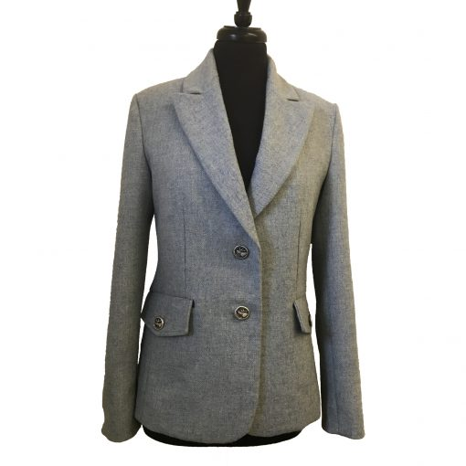 Camille Blazer in Light Blue front view