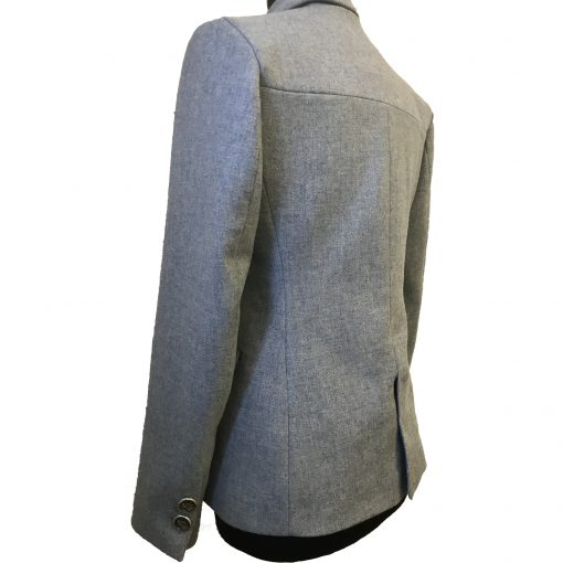 Camille Blazer in Light Blue 3 quarter back view