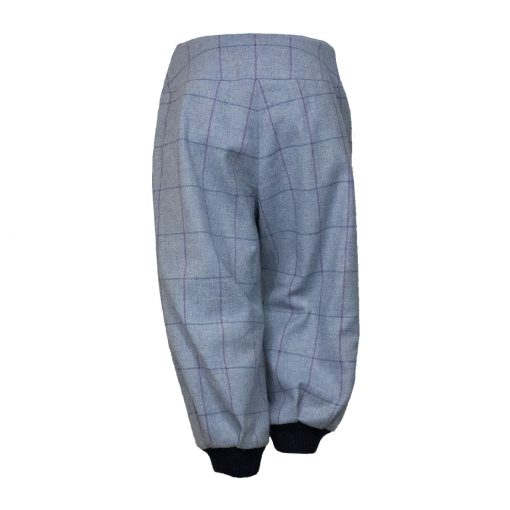 Bridie breeks blue/navy back view cuffs showing