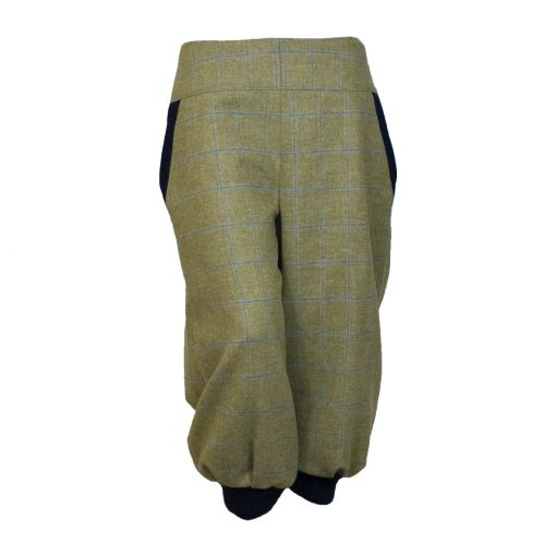 Bridie breeks beige/navy front cuffs showing