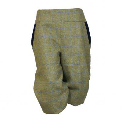 Bridie breeks beige/navy front view
