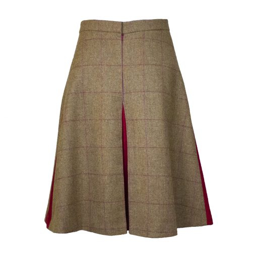 Our Amalia skirt - brown/red Colour option back view
