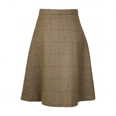 Our Amalia skirt - brown/red Colour option front view