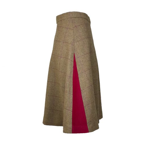 Our Amalia skirt - brown/red Colour option side view