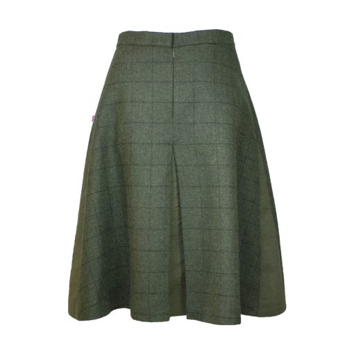Our Amalia skirt - Green/Green Colour option back view