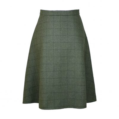 Our Amalia skirt - Green/Green Colour option front view