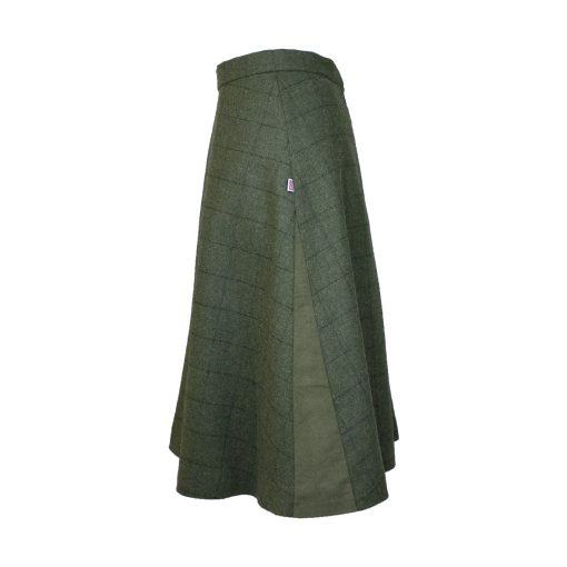 Our Amalia skirt - Green/Green Colour option - side view