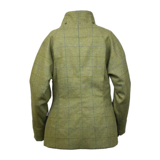 Amber jacket green/blue back hood off