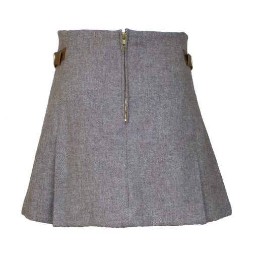 Jessica skirt taupe/tan back view