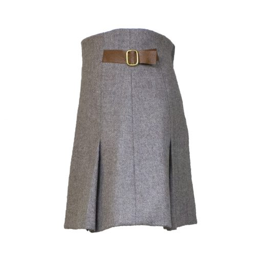 Jessica skirt taupe/tan side view