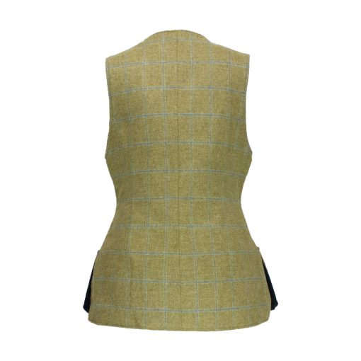 Josie gilet beige/navy back view