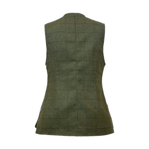 Our Josie Gilet - Green/Green Colour option- back view